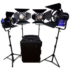 Dracast LED3500 Daylight Fresnel 4-Light Kit