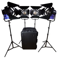 Dracast LED4000 Daylight Fresnel 4-Light Kit