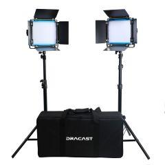 Dracast LED500 X Series Daylight LED 2 Light Kit with Nylon Padded Travel Case
