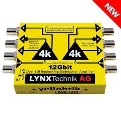 Lynx Yellobrik DVD-1423 12G Dual 1>3 SDI Distribution Amplifier