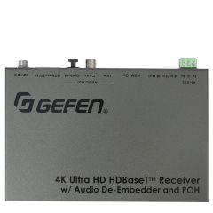 Gefen Inc EXT-UHDA-HBTL-RX Gefen  4K Ultra HD HDBaseT Receiver with Audio De-Embedder and POH
