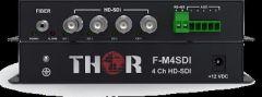Thor 4Ch HD-SDI Transmitter and Receiver Kit over Singlemode Fiber ST/PC 20km - F-M4SDI-Tx/Rx