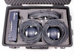 Datavideo GO-2CAM 2 Camera GoKit - 2-Camera Remote Camera Kit with Controller Cables and Hand-Carry Case