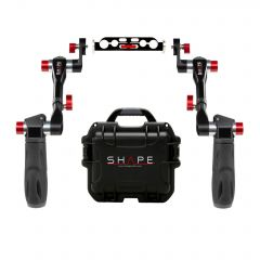 Shape Telescopic SHAPE handle Arri rosette with rod bloc and shock-resistant case - HAND12KIT