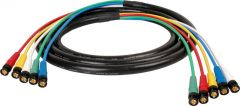 Laird Digital Cinema HD5BNC-15 Laird  Canare V5-4CFB RG59 5-Channel 3G-SDI BNC Video Snake Cable - 15 Foot