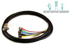 Laird Digital Cinema HD5BNC-15HDM-75 Laird Belden/Kings High Density VGA Male to 5-Channel BNC Male Breakout Cable - 75 Foot