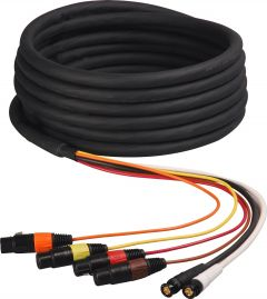Laird Digital Cinema HDA4V2-25 Laird Belden 1347A 2-Channel HD-SDI Video and 4-Channel XLR Audio Snake Cable - 25 Foot