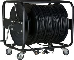 Camplex HF-TRMSMPTE-1000  LEMO FUW-PUW-M Furukawa Outside Broadcast SMPTE 304M Fiber Camera Cable on Reel-1000 Foot