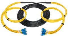 Camplex HF-TS12LC-2000  12-Channel LC-Single Mode Tactical Fiber Optical Snake- 2000 Foot