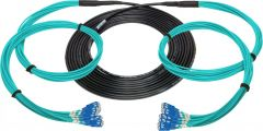 Camplex HF-TS12SCM3-0100  12-Channel SC Multi Mode OM3 Fiber Optic Tactical Snake - 100 Foot