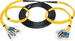 Camplex HF-TS12ST-0250  12-Channel ST-Single Mode Tactical Fiber Optical Snake- 250 Foot