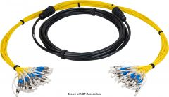 Camplex HF-TS24LC-0025   24-Channel LC Singlemode Tactical Fiber Optical Cable - 25 Foot