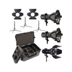 Hive Lighting 3 Light Kit with 2 HORNET 200-C Par Spot Lights & 1 WASP 100-C Par Spot Light, 3 Stands & C-Series 3 Light Hard Rolling Case with Custom Foam
