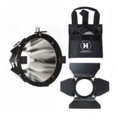 Hive Lighting Par Reflector Attachment, Barndoors and 3 Lens Set (Medium, Wide, Super Wide) with Bag for Hornet 200-C