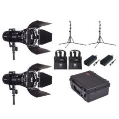 Hive Lighting Wasp 100-C LED Spot2 Light Kit with 2 Lens Sets, 2 Stands and Case (Custom Foam)