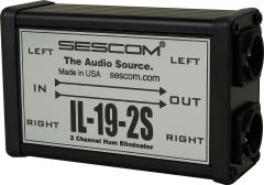 Sescom IL-19-2S   Pro Audio Hum Eliminator Two Channel Inline with Isolation