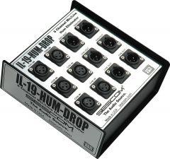 Sescom IL-19-HUM-DROP   Pro Audio Hum Eliminator 6 Channel Snake Box with Isolation