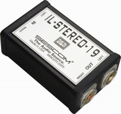 Sescom IL-STEREO-19 Pro Audio Hum Eliminator 2-Channel RCA HiFi Style Stereo Isolator Transformer Coupler