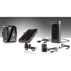 Shape 98 WH battery kit d-box camera power and charger for Canon 5D, 7D, Blackmagic Pocket cinema 4k, LP-E6 series - KBLPE