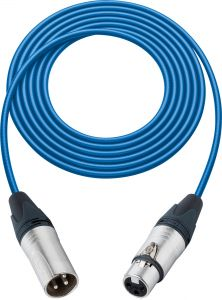 Sescom L2-100XXJBE   Mic Cable Pro Stage Series 3-Pin XLR Female to 3-Pin XLR Male Blue - 100 Foot
