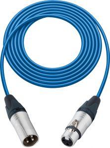 Sescom L2-100XXJBE Mic Cable Pro Stage Series 3-Pin XLR Female to 3-Pin XLR Male Blue - 100 Foot