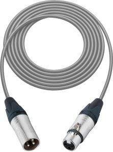 Sescom L2-100XXJGY Mic Cable Pro Stage Series 3-Pin XLR Female to 3-Pin XLR Male Gray - 100 Foot