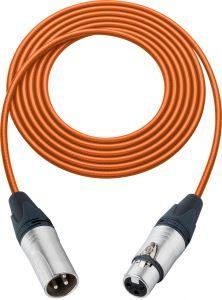 Sescom L2-100XXJOE Mic Cable Pro Stage Series 3-Pin XLR Female to 3-Pin XLR Male Orange - 100 Foot