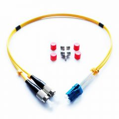 LYNX Yellobrik Duplex LC/FC Fiber Patch Cable (SMF) 0.5m