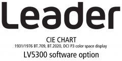 Leader Instruments LV5300-SER22 Leader  CIE CHART - 1931/1976 BT.709/BT.2020/DCI P3 Color Space Display for LV5300 (software)