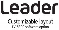 Leader Instruments LV5300-SER26 Leader  LAYOUT - Customizable User Layout Display Option for LV5300 (software)