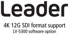 Leader Instruments LV5300-SER28 Leader  4K and 6G - 12G-SDI Option for LV5300 (software)