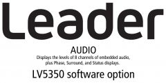 Leader Instruments LV5350-SER20 Leader  AUDIO - Displays the Levels of 8 Channels of Embedded Audio for LV5350 (software)
