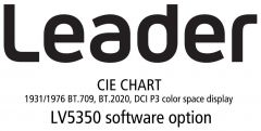 Leader Instruments LV5350-SER22 Leader  CIE CHART - 1931/1976 BT.709/BT.2020/DCI P3 Color Space Display for LV5350 (software)