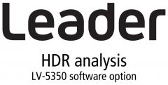 Leader Instruments LV5350-SER23 Leader  HDR - High Dynamic Range PQ - HLG and SLOG-3 monitoring