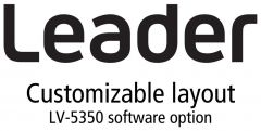 Leader Instruments LV5350-SER26 Leader  LAYOUT - Customizable User Layout Display (software)