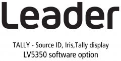 Leader Instruments LV5350-SER27 Leader  TALLY - Source ID / Iris / Tally Display for LV5350 (software)