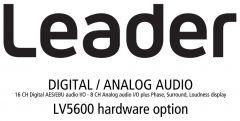 Leader Instruments LV5600-SER03 Leader  Digital / Analog Audio - 16CH Digital AES/EBU Audio I/O - 8CH Analog Audio I/O for LV5600 (hardware)