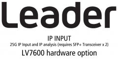 Leader Instruments LV5600-SER06 Leader  IP INPUT - 25G IP Input and IP analysis (requires SFPplus Transceiver x 2) for LV5600 - (hardware)