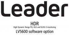 Leader Instruments LV5600-SER23 Leader  HDR - High Dynamic Range PQ HLG and SLOG-3 Monitoring for LV5600 (software)