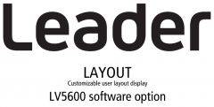 Leader Instruments LV5600-SER26 Leader  LAYOUT - Customizable User Layout Display for LV5600 (software)