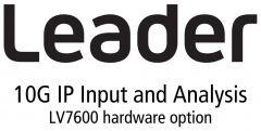 Leader Instruments LV7600-SER05 Leader  IP INPUT - 10G IP Input and IP analysis (requires SFplus Transceiver x 2) (hardware)