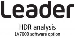 Leader Instruments LV7600-SER23 Leader  HDR - High Dynamic Range PQ - HLG and SLOG-3 Monitoring (software option)