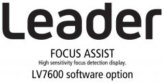 Leader Instruments LV7600-SER25 Leader  FOCUS ASSIST - High Sensitivity Focus Detection Display for LV7600 (software option)