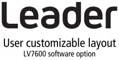 Leader Instruments LV7600-SER26 Leader  LAYOUT - Customizable User Layout Display for LV7600 (software)
