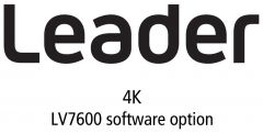 Leader Instruments LV7600-SER28 Leader  4K Video Signal Correspondence Function for LV7600 (software option)