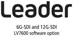 Leader Instruments LV7600-SER29 Leader  6G-SDI and 12G-SDI for LV7600 (software option)