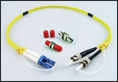 LYNX Yellobrik LC to ST Adapter Cable (duplex) SMF