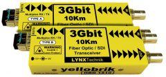 LYNX Yellobrik SD/HD/3G – Bidirectional SDI Fiber Transceiver