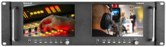 Marshall Electronics M-LYNX-702W Marshall  Dual 7 Inch High Resolution Rack Mount Display with Waveform SDI & HDMI Inputs