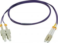 Camplex MMDM4-LC-SC-045   50/125 Fiber Optic Patch Cable Multimode Duplex LC to SC - OM4 Purple-45-Meter